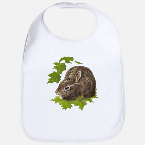 Cute Little Bunny Rabbit Pet Animal Watercolor Bib