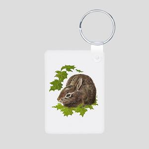 Cute Little Bunny Rabbit Pet Animal Watercolor Key
