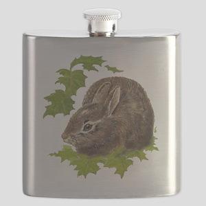 Cute Little Bunny Rabbit Pet Animal Watercolor Fla