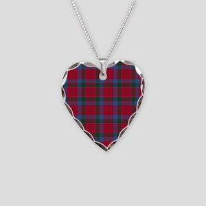 Tartan-Robertson Necklace Heart Charm