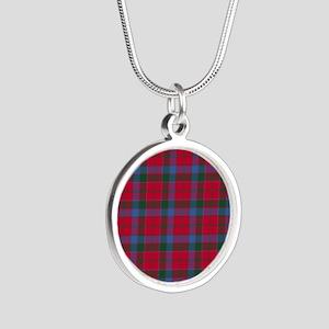 Tartan-Robertson Silver Round Necklace