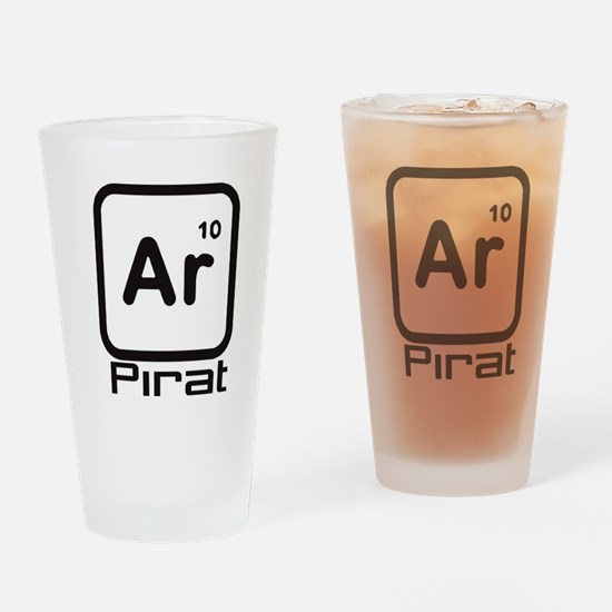 Pirate Periodic Table Drinking Glass