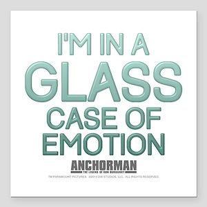 Glass Case Of Emotion Square Car Magnet 3&Quot; X