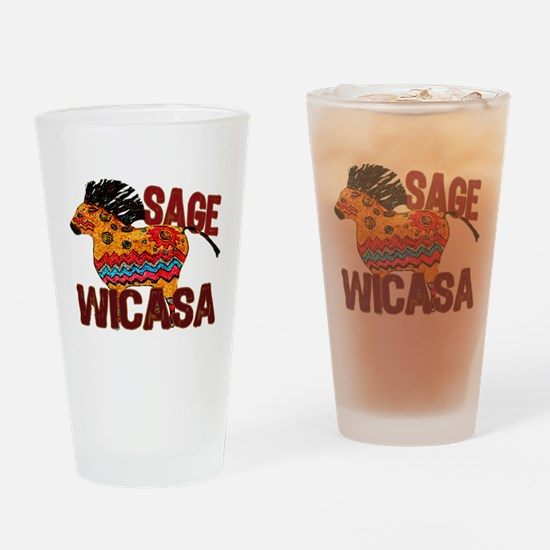 Wicasa the Sage Totem Pony Drinking Glass