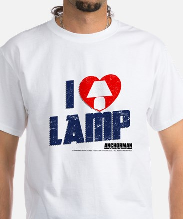 I Love Lamp White T-Shirt
