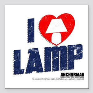 "I Love Lamp Square Car Magnet 3"" X 3"""