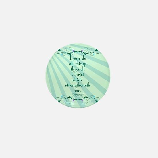 Philippians 4:13 Starburst Mini Button