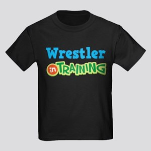 Wrestler in Training Kids Dark T-Shirt