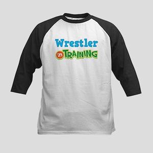 Wrestler in Training Kids Baseball Jersey