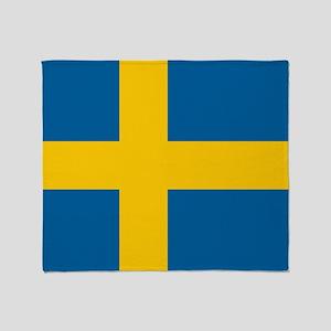 Swedish Flag Throw Blanket