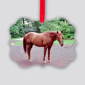 THUNDER GULCH, Ky Derby winner, Oval Ornament
