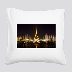 A Night In Paris Square Canvas Pillow