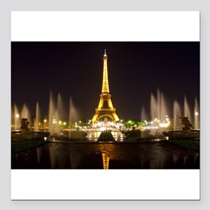 "A Night In Paris Square Car Magnet 3"" x 3"""