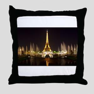 A Night In Paris Throw Pillow