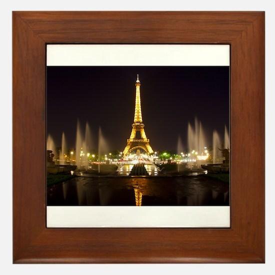 A Night In Paris Framed Tile