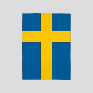 Swedish Flag 5'x7'Area Rug