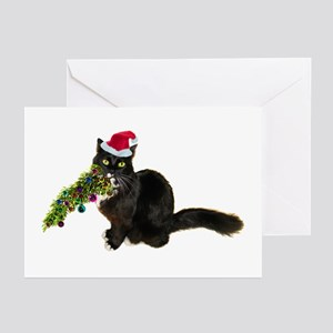 Cat christmas greeting cards cafepress cat christmas tree greeting cards pk of 20 m4hsunfo
