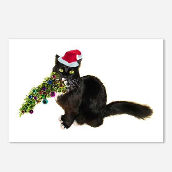 Cat Christmas Tree Postcards (Package of 8)