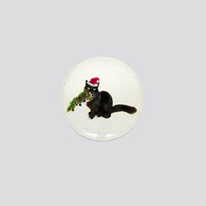Cat Christmas Tree Mini Button