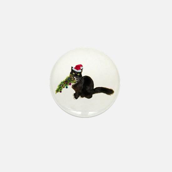 Cat Christmas Tree Mini Button (10 pack)