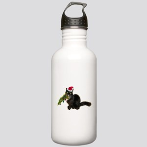 Cat Christmas Tree Stainless Water Bottle 1.0L