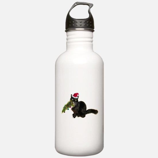 Cat Christmas Tree Water Bottle