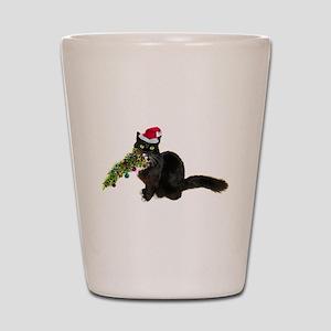 Cat Christmas Tree Shot Glass