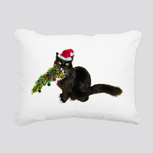 Cat Christmas Tree Rectangular Canvas Pillow