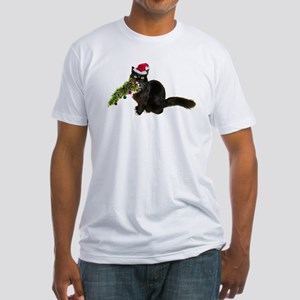 Cat Christmas Tree Fitted T-Shirt