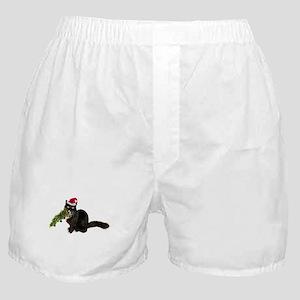 Cat Christmas Tree Boxer Shorts