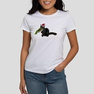 Cat Christmas Tree Women's T-Shirt