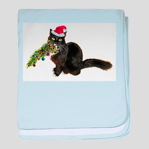 Cat Christmas Tree baby blanket