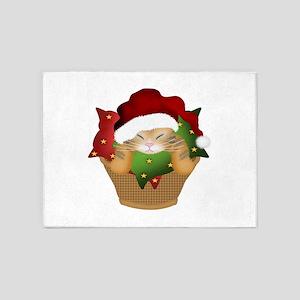 Christmas Kitty 5'x7'Area Rug