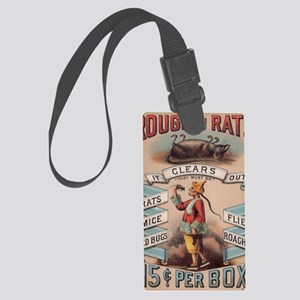 Vintage Rough on Rats Poison Large Luggage Tag