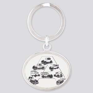 Model A Ford Oval Keychain