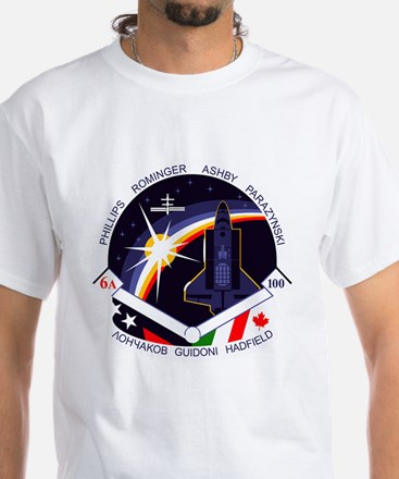 STS-100 Endeavour White T-Shirt