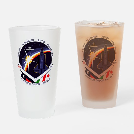 STS-100 Endeavour Drinking Glass