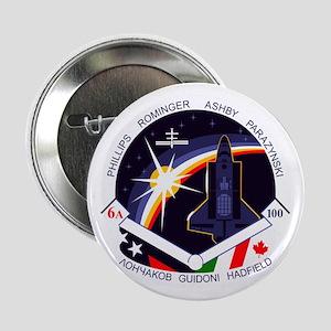 """STS-100 Endeavour 2.25"""" Button"""