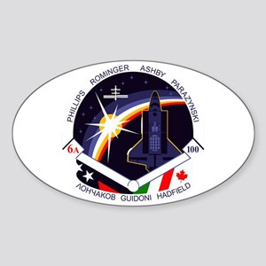 STS-100 Endeavour Sticker (Oval)