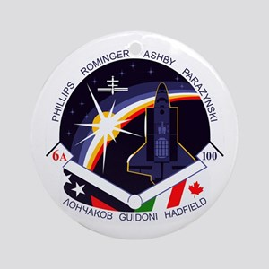 STS-100 Endeavour Ornament (Round)