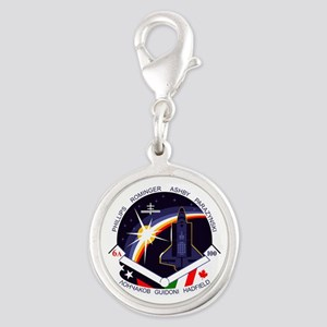 STS-100 Endeavour Silver Round Charm