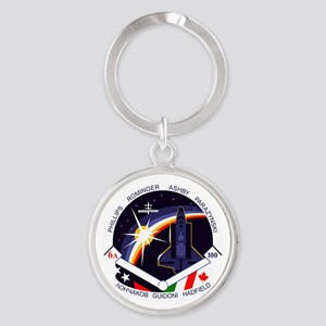 STS-100 Endeavour Round Keychain