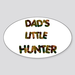 Dads Little Hunter Oval Sticker