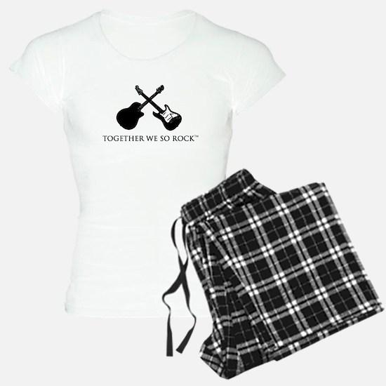 Together we SO Rock white background Pajamas