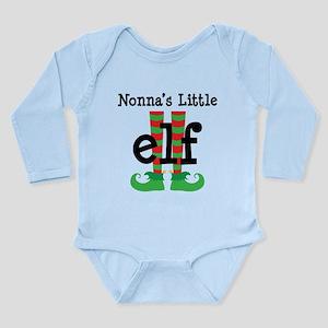 Nonnas's Little Elf Long Sleeve Infant Bodysuit
