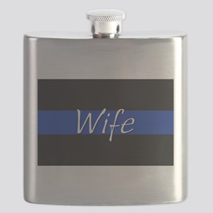 Thin Blue Line Wife Flask