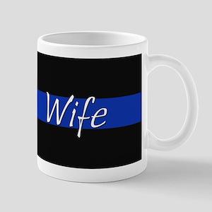 Thin Blue Line Wife Mugs