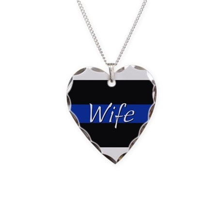Thin Blue Line Wife Necklace