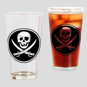Pirate Logo Drinking Glass