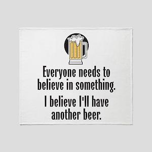 Beer Believe - Throw Blanket